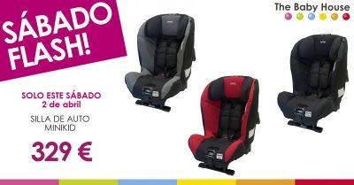 """Sábado """"flash"""", 2 de abril: silla de auto Minikid a 329 euros"""