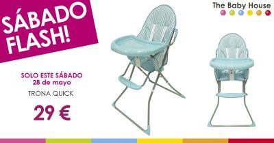 Nueva oferta especial en productos para tu bebé: sólo el 28 de mayo, trona Quick a 29 €