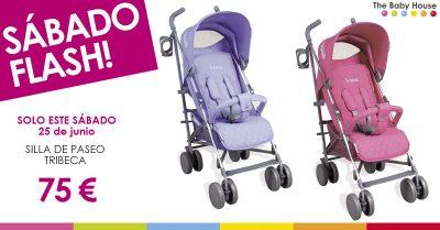 Nueva oferta especial en productos para tu bebé: sólo el 25 de junio, silla de paseo Tribeca a 75 €