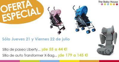 Oferta en silla de auto Transformer X-Bag y silla de paseo Liberty