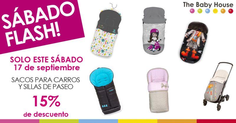 Nueva oferta en productos para tu bebé: sacos para sillas de paseo con un 15% de descuento