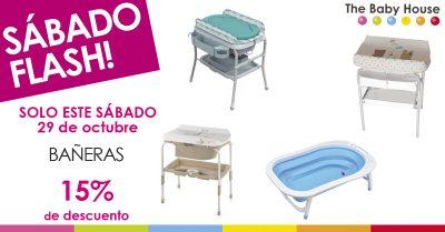 Nueva oferta en productos de bebé: sólo el 29 de octubre, bañeras con un 15% de descuento