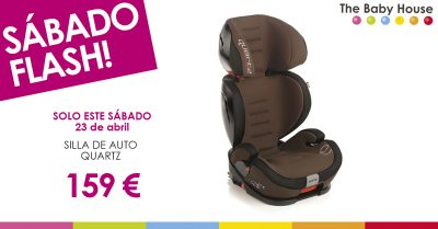 "Sábado ""flash"", 23 de abril: silla de auto Quartz a 159 euros"