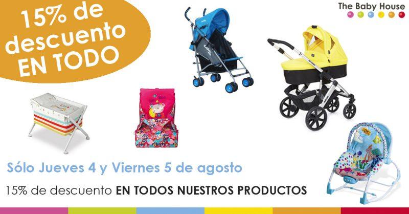 Este jueves y viernes, todos nuestros productos de bebé con un 15% de descuento